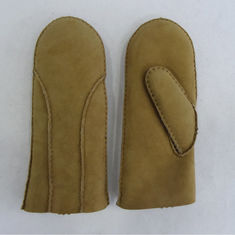 S M L XL Sheepskin Shearling Leather Mitten Gloves